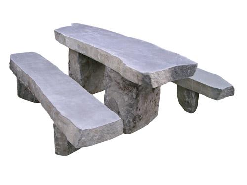 Bàn đá Basalt chữ nhật tự nhiên